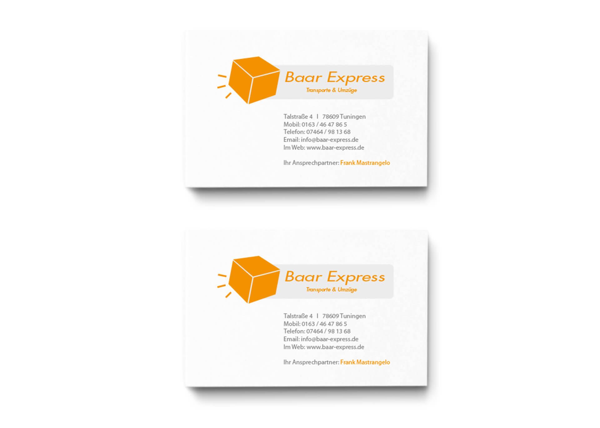 Baar-Express Gestaltung Logo