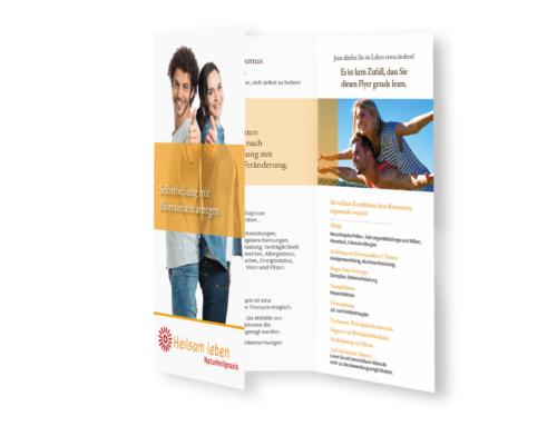Heilsam leben Naturheilpraxis: Gestaltung Flyer
