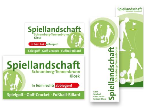 Schramberg-Tennenbronn: Gestaltung Schilder und Leitsystem für Golfplatz