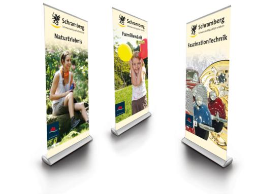 Schramberg: Gestaltung Messebanner