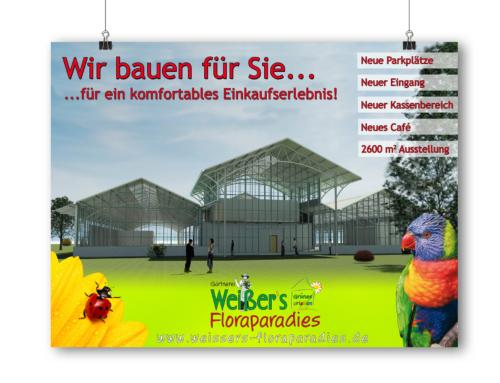 Gärtnerei Weißer – Gestaltung Banner für Neubau