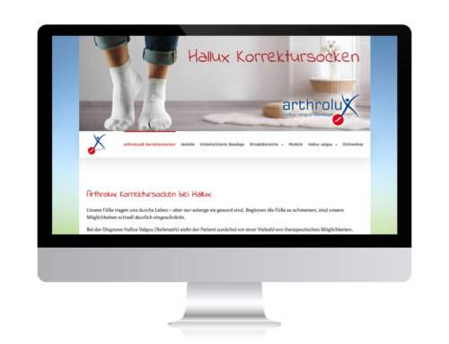 arthrolux – Neue Website